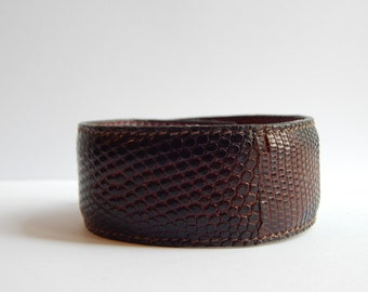 Men's Snake print Leather Cuff Ready to ship