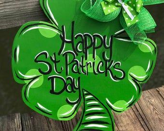 St. Patricks day door hanger Irish door hangers wood door hangers door hangers
