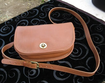 Laura Natural Leather Shoulder bag,Made in USA