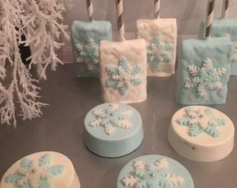 Winter Wonderland Snowflake oreos