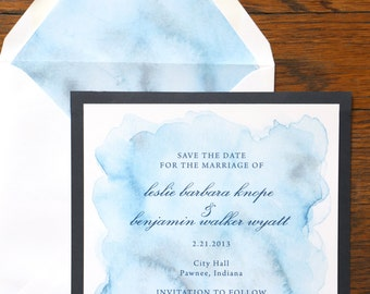Customized Watercolor Save the Date Deposit