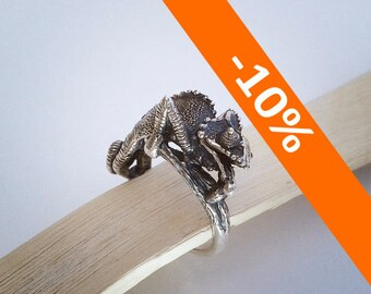 Chameleon ring II. - Sterling Silver - Free Shipping - 10% SPRING DISCOUNT
