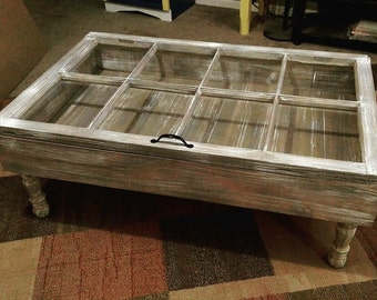 on sale coffee table window pane table shadow box table reclaimed wood table