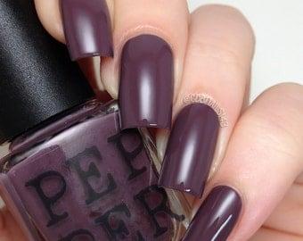 Dark Purple Nail Polish Indie Nail Polish Bath And Beauty Gift For Her Gift Under 15 Pepper Pot Polish