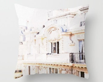 Paris Pillow Paris Watercolor Illustration Print Pillow Paris France Gifts for Her Paris Rooftops Prints Under 20 French Decor Pillow Gifts
