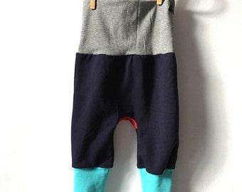 Colour block leggings (navy)