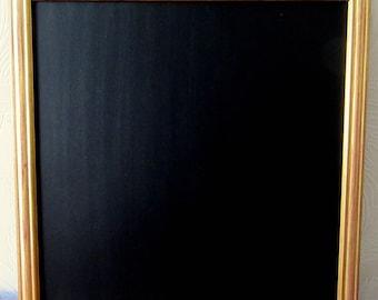 Large Square Gold / Red / Brown Effect Framed Chalkboard / Blackboard / Wedding