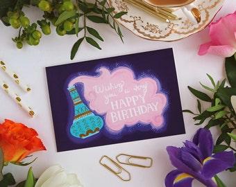 Genie Card - Happy Birthday - Greeting Card