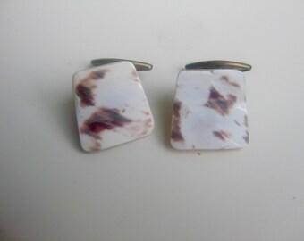 Org. 50 he j. marbled glass cufflinks