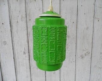 upcycled pendant lamp - 70s - retro bubble glass lamp