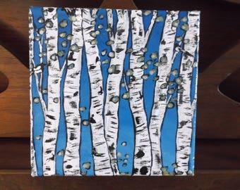 Aspen Landscape Painting / Rocky Mountain Landscape / Acrylic Painting / Beth Lighthouse Painting