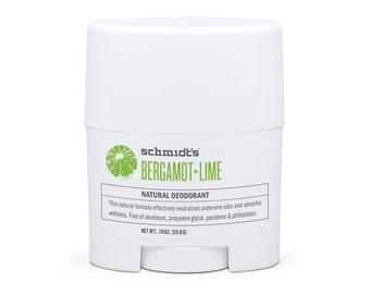 Bergamot + Lime Travel-Size Stick (.7 oz.) - Schmidt's Natural Deodorant