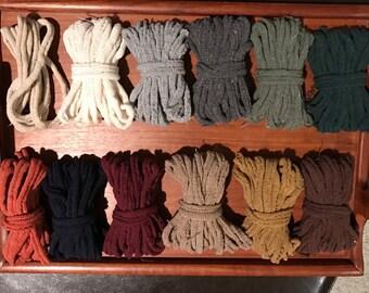 """7"""" Designer Color Assortment; Harrisville Design Loops for Traditional Potholder Loom;  makes 6 potholders."""
