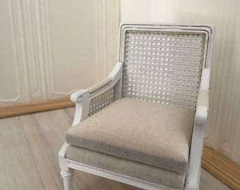 French country cane chair 1:12