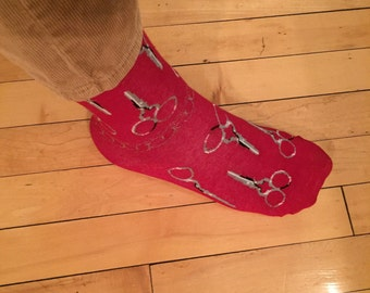 Stylish scissor socks- unisex (1 pair)