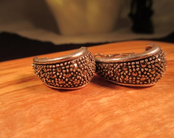 Cool Retro Sterling Silver Marcasite Earrings