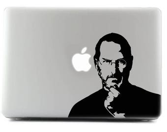 Steve Jobs, Custom sticker, Decal sticker, MacBook, Viny Sticker, Apple Sticker,  MacBook Decal, MacBook Skin