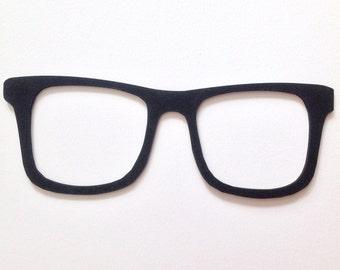 Geek glasses laser cut wood wall decor