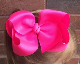 "6"" hair bows - 6"" boutique bows - basic hair bows - 6"" bows - 6"" basic boutique bows - big boutique bows - large hair bows - basic hair bows"