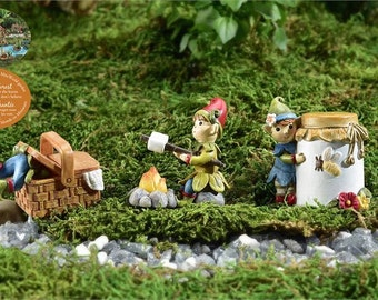 Fairy Garden  - Enchanted Forest - Pixies - Set of 3 - Miniature
