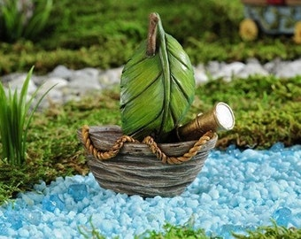 Fairy Garden  - Enchanted Forest Sailboat - Miniature