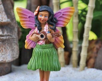 Fairy Garden  - Hula Girl Fairy - Miniature
