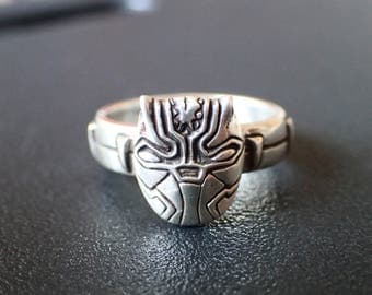 Marvel Black Panther Sterling Silver Ring (Avengers + Captain America Civil War Inspired)