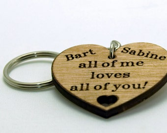 personalised Heart keychain