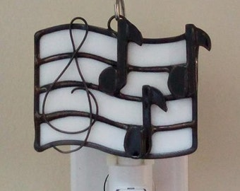 Stained Glass Musical Note Night Light