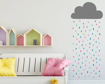 Mini Clouds Wall Decals Cloud Wall Decal Nursery Cloud Tiny - Nursery wall decals clouds