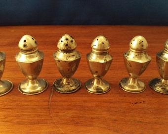Set of 6 Vintage Sterling Salt & Pepper Shakers