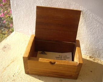 Thai Handmade Teakwood Wooden Namecard Box Business Card Box