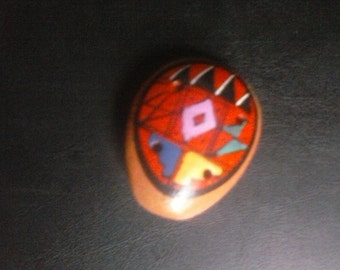 Ocarina, red/pink,  miniature flute whistle pendant,cord included Peruvian, 2 inch FREE SHIPPING