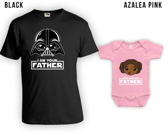 I Am Your Father African Cartoon - Matching Father Son Shirts, Christmas Gifts, Fathers Day Gift,Matching Family Shirts, Bodysuit CT-838-842
