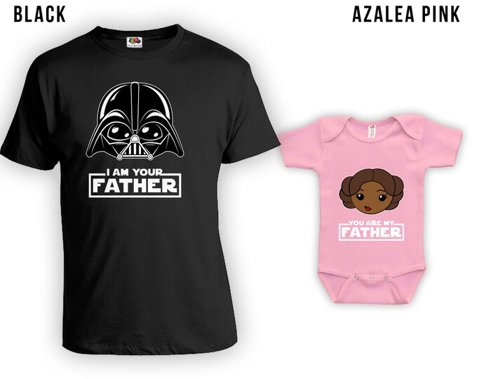 Featured listing image: I Am Your Father African Cartoon - Matching Father Son Shirts, Christmas Gifts, Fathers Day Gift,Matching Family Shirts, Bodysuit CT-838-842