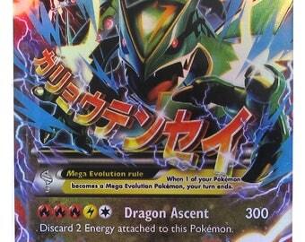 Handmade Pokemon Card Rayquaza Mega EX HP 230 Trading Card Game