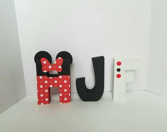 Minnie mouse wood name letters - PRICE PER LETTER - minnie mouse - minnie mouse name letters - minnie mouse decor - disney letters - party