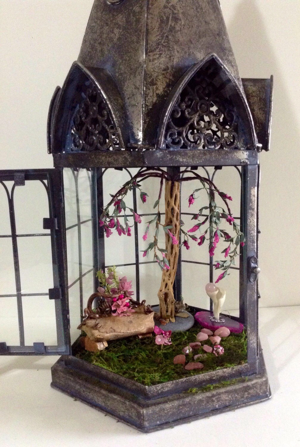 Large Church Shaped Lantern Fairy Garden Kit Unique Spring