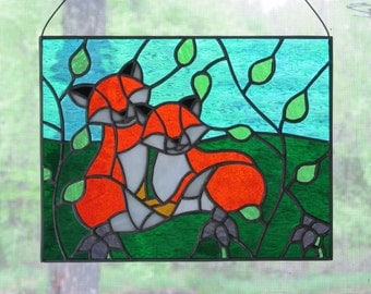 Fox Stained Glass
