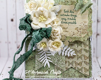 Shabby Chic Faith Makes Things Possible Card