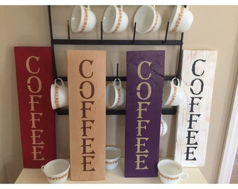 Vertical Coffee sign