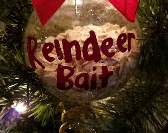 Reindeer Bait Ornament - Christmas Tree Ornament - Reindeer Food