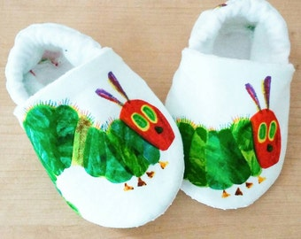 The very hungry Caterpillar Inspired Baby Booties