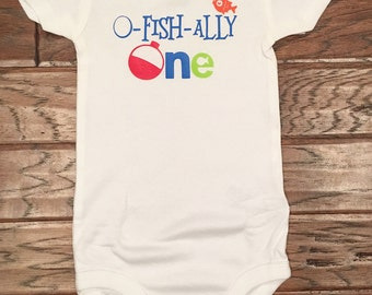O-Fish-Ally One Birthday Onesie