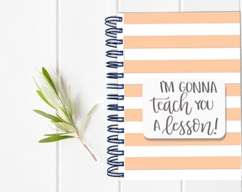 SECONDARY Teacher Lesson Planbook - One Year Fill in Calendar Planner - Weekly Planbook - Monthly education educator teaching organizational