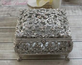 Beautiful Swarovski Crystal Box, Wedding Ring Box, Wedding Arras,