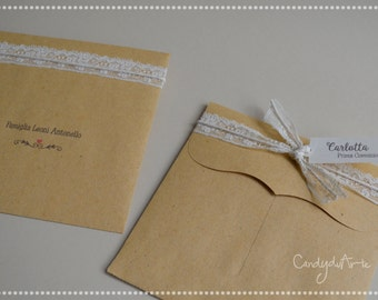Kraft Envelopes envelopes quadratte Envelopes for invitations-vintage-