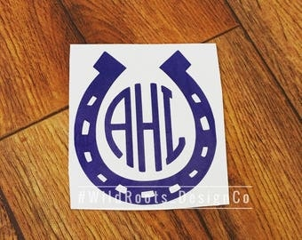 Horseshoe Monogram Decal