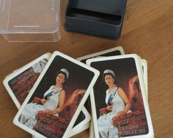 Queens silver jubilee playing cards