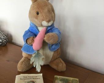 Vintage Peter Rabbit, book and Beatrix Potter post card